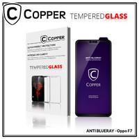 Oppo F7 - COPPER Tempered Glass ANTI-BLUERAY (Full Glue)