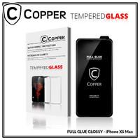 COPPER Tempered Glass Full Glue PREMIUM Glossy - Iphone XS Max