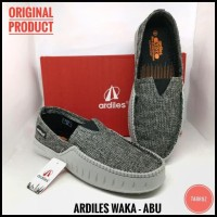 Fresh Product Sepatu Ardiles Waka - Abu - Sepatu Pria Slip On - Sepatu