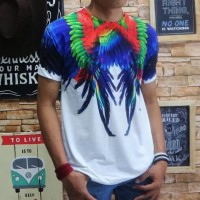 Murah Kaos Pria Tshirt Baju Remaja Atasan Oblong Motif Fila - Putih