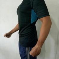 Murah Kaos Baju Pria Premium Import Gym Fitnes Sepeda Loreng Lari Army