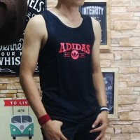 Murah Baju Kaos Singlet Pria Tshirt Distro Remaja Oblong Polos Fila -