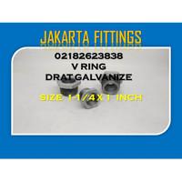 BUSHING / VLOK RING DRAT GALVANIZE 1-1/4 X 1 INCH