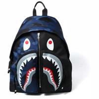 Bape Color Camo Shark Day Pack Backpack Blue