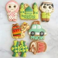 butter cookies dengan icing | kukis hias lebaran / idul fitri