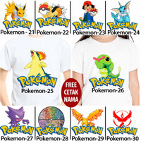 kaos baju anak anak kids kartun pokemon 21 - 30