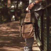 Tas Ransel Backpack Kanvas Laptop Pria Wanita - Divinces Circle