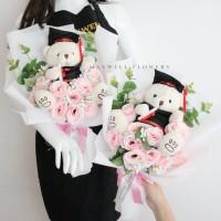 BEST SELLER !! buket bunga wisuda korean style - merah putih