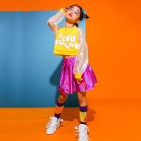 Girls Jazz Dance Costumes Tops Skirts Hip Hop Clothes Kids Street Danc