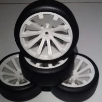 F08 RC Flat/slick On Road tires, ban RC velg 1:10