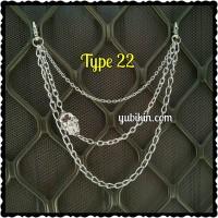 1 Pc Wallet Chain 3 Susun Rantai Celana Tengkorak Handmade Accessories
