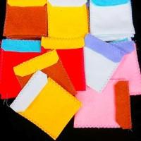 Amplop Lebaran Flanel / angpao Lebaran dari kain flanel bentuk dompet