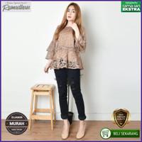 Baju Blouse Wanita Brukat Atasan Fashion Wanita Terbaru High Quality
