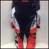 New Kaos Jersey Sepeda -Baju Kaos Stelan Motor Cross Anak Oneal Merah