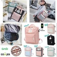 Korean College Backpack USB Charging/ Tas Sekolah/College Fashion Bag