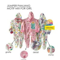 NEW LIBBY Baju Bayi Jumper Jumsuit Panjang Topi Tutup Kaki Newborn