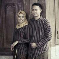 Baju Couple Surjan+Kebaya Lurik/Baju Couple Adat Jawa Khas Jogja Solo