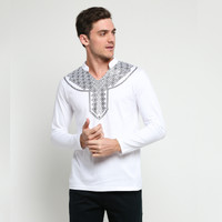VM Baju Koko Kaos Panjang Putih
