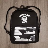Aape X Chocolate Backpack Tas Pria Ransel Bape Cowok