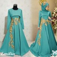 gamis maxi dress baju pesta pernikahan seragam muslim lebaran keluarga