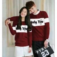 baju couple korea kaos pasangan atasan cewek cowok