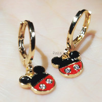 RAKA Acc- Anting Clip / Klip MICKEY MOUSE Simple Xuping Gold Perhiasan