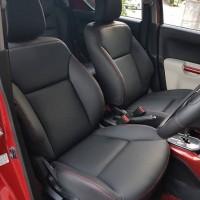 Jok Permanen / paten bahan kulit Articoleder mobil 3 baris model pilih