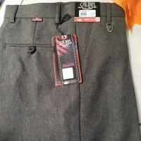 celana bahan merk calbin model slim fit bahan wool warna abu
