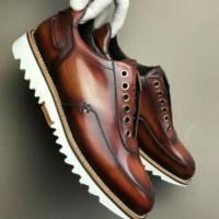 Sepatu Kulit Custom   Sepatu Kulit Pria   Boots Kulit Pendek