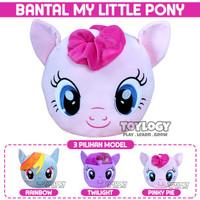 Bantal Boneka Kepala Muka Kuda Poni Pony Horse - Pink, Ungu, Biru