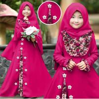 Maxi Gamis Baju Muslim Anak Kid Tara Bunga Perempuan Cewe Murah