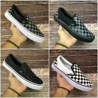 Sepatu Vans Checkerboard Catur Slip On Slop Grade Ori Cowok Cewek