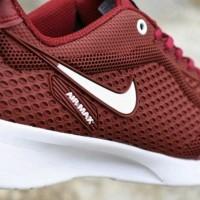 sedia Sepatu Nike Airmax Termurah Red Maroon White Premium Pria Wanita