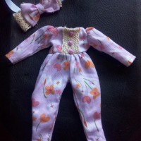 baju jumpsuit untuk boneka blythe icy licca bjd Barbie