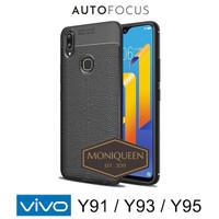 Vivo Y91 Y93 Y95 Autofocus Leather Case Softcase Auto focus Case