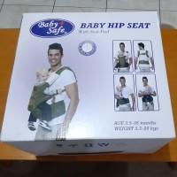 gendongan baby safe hip seat red