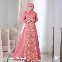 drees baju muslim wanita motif brukat baju gamis pesta terlaris
