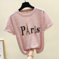 Baju Kaos T-Shirt Wanita Pink Paris (M) Import