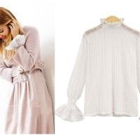 Baju Atasan Blouse Korea White Spring Lace (S) Import
