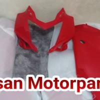Batok dan fairing atas ninja 250 rr mono merah original kawasaki