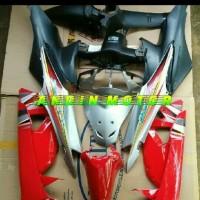 Cover body full set supra fit new merah silver