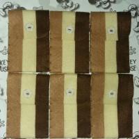 Amplop Flanel Garis - Coklat. Amplop Angpao - Lebaran - Souvenir