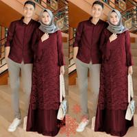 Baju Murah Couple Muslim Pasangan Trendy - Couple Gamis Koko