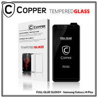 Samsung J6 Plus - COPPER Tempered Glass Full Glue PREMIUM Glossy