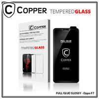 Oppo F7 - COPPER Tempered Glass Full Glue PREMIUM