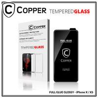 Iphone X / XS - COPPER Tempered Glass Full Glue PREMIUM Glossy