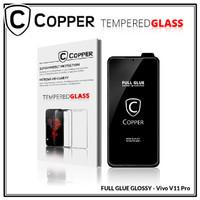 Vivo V11 pro - COPPER Tempered Glass Full Glue PREMIUM Glossy