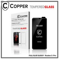 Realme 3 - COPPER Tempered Glass Full Glue PREMIUM Glossy