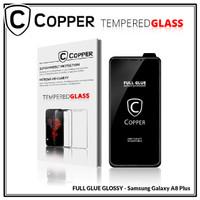 Samsung A8 plus - COPPER Tempered Glass Full Glue PREMIUM Glossy