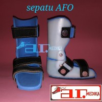 pesanan a.n Aindra Suhariyono sepatu koreksi orthopedi AFO
